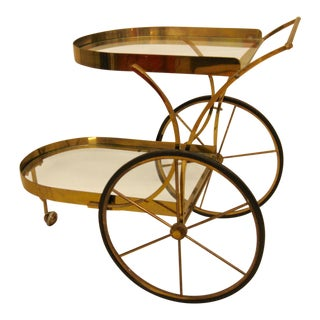 Deco Brass Bar Cart