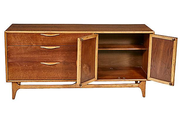 Great 1960s Lane Furniture Walnut Dresser   Image 3 Of 10