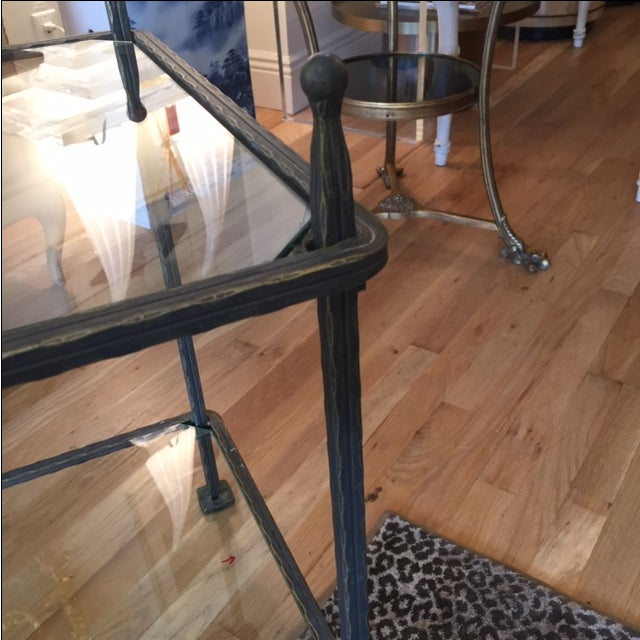 Claudio Rayes Bronze Side Tables - Pair - Image 3 of 8