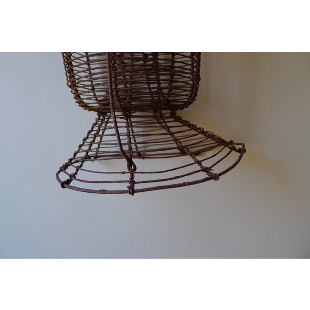 1900s Metal Wire Fishing Eel Trap Cage