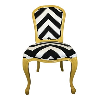 Black & White Chevron Accent Chair