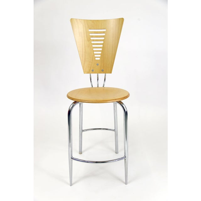 Vintage Post Modern Memphis Era Barstools - A Pair - Image 3 of 10