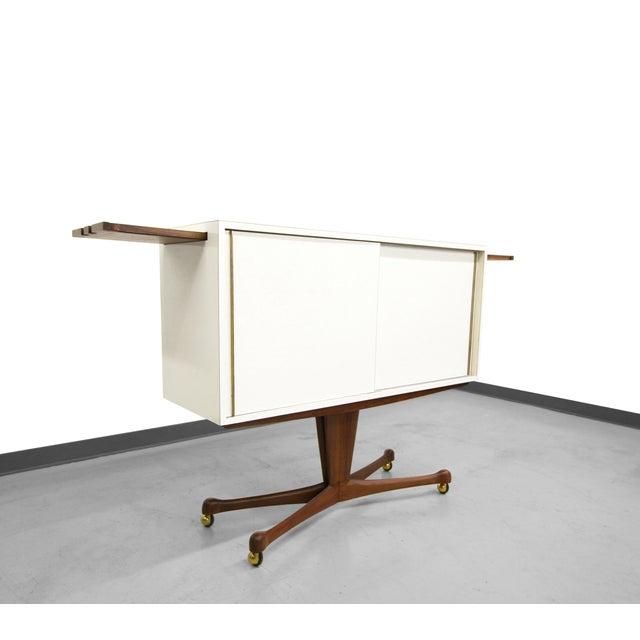 Vladimir Kagan Rolling Pedestal Bar - Image 2 of 10