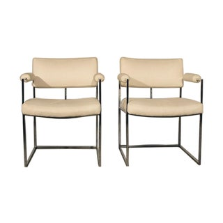 Vintage Milo Baughman 1188 Dining Chairs, Pair