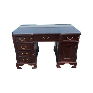 Vintage Traditional Solid Wood Desk Double Sided