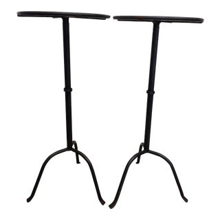 Black Martini Side Tables - A Pair