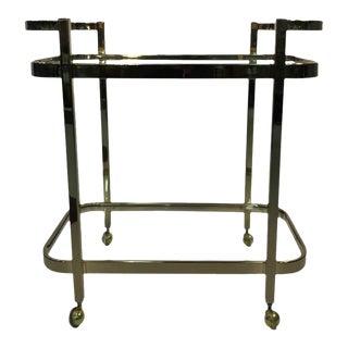 Milo Baughman Two-Tier Brass Bar Cart