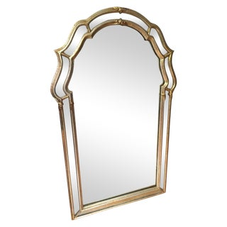 Italian Silver Gilt Mirror by LaBarge