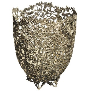 A Bright Pewter Basket
