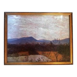 Vintage Minimalist Desert Landscape Painting