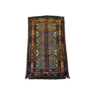 Semi Antique Turkish Anatolian Rug - 1′10″ × 3′4″