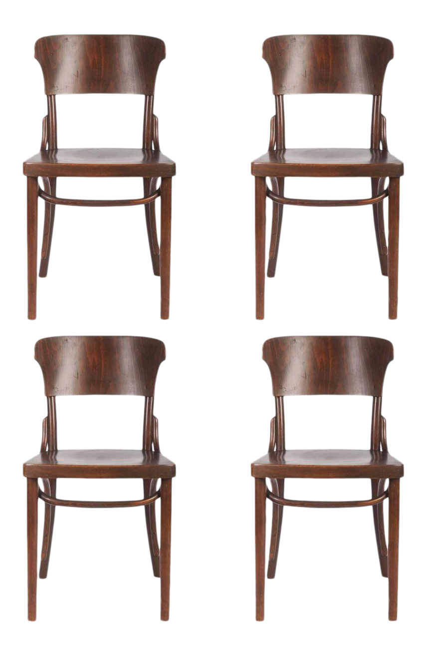 Bentwood Chairs By Thonet, 1930s   Set Of 4   Image 1 Of 9