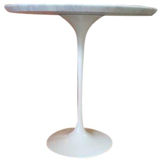 Room & Board Saarinen White Carrara Marble End Table