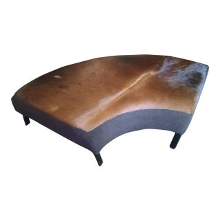Curved Cowhide Bench