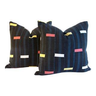 Vintage African Baule Textile Pillows - A Pair