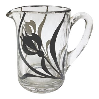 MCM Mini Creamer Pitcher with Overlay Painting