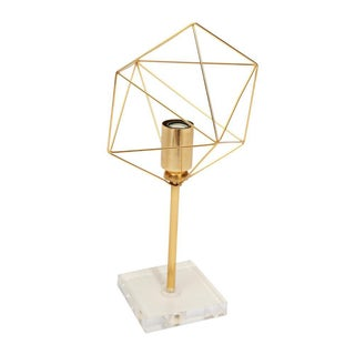 Gold Plated Geometric Table Lamp