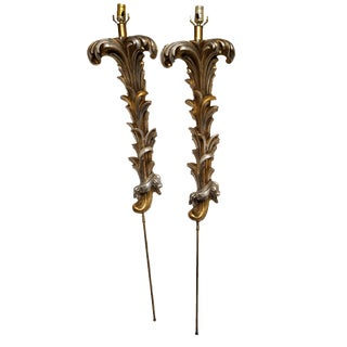 French Louis XV Wall Sconce Lamps - A Pair