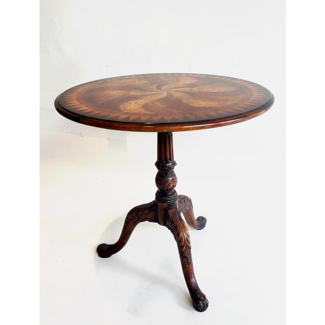 Image of Wood Inlay Side Table