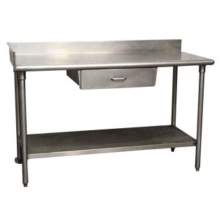 Single Drawer Steel Table