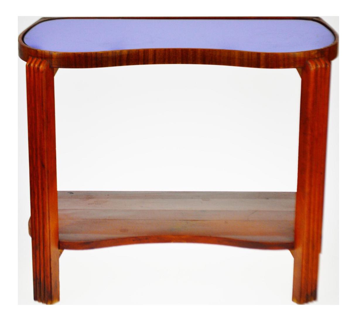 art deco outdoor furniture. vintage art deco cobalt blue mirrored glass table outdoor furniture