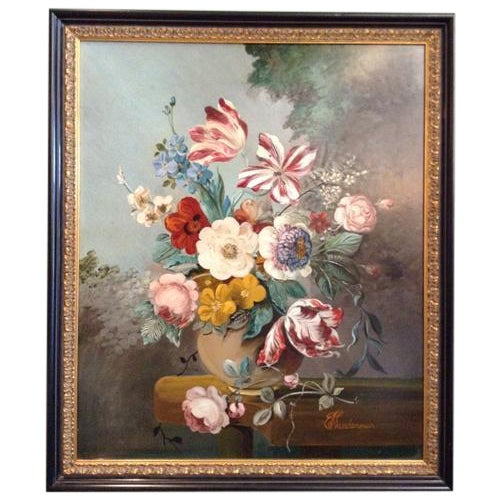 Image of Dutch Still Life Signed Oil on Board