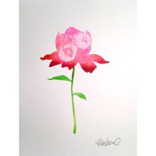 """""""Pink Rose"""" Original Watercolor Painting"""