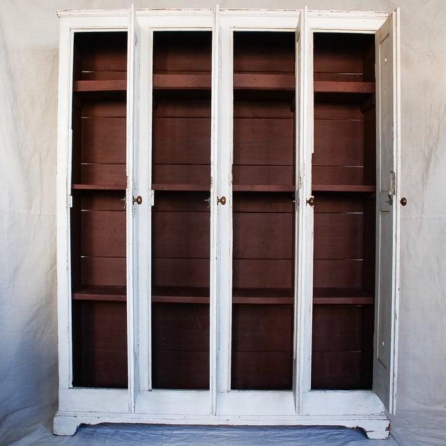 Antique White Distressed Schoolhouse Lockers - Image 6 of 11