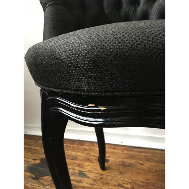 Noir Tufted Swiveling Vanity Chair - Image 4 of 6