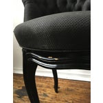 Image of Noir Tufted Swiveling Vanity Chair