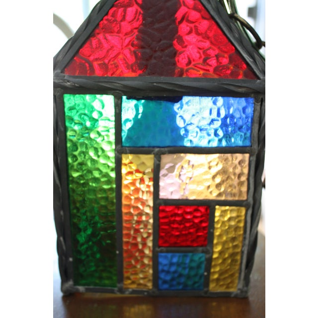 Vintage Stained Glass Pendant - Image 4 of 4