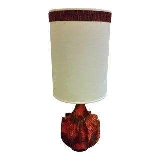 Italian Mid-Century Modern Red Lamp