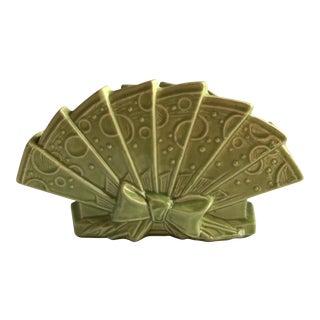 Vintage McCoy Pottery Green Fan Planter