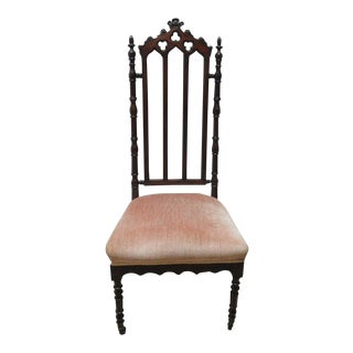 Antique Victorian Gothic Walnut Chair