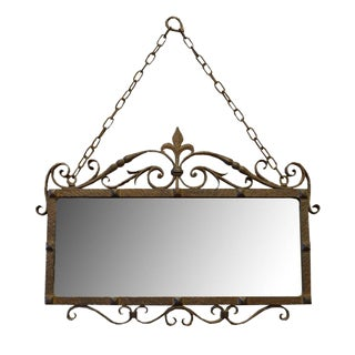 Wrought Iron Mirror Form the Estate of Jose Thenee