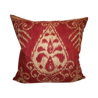 Ruby Ikat Accent Pillow