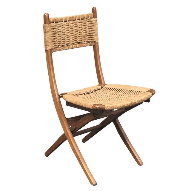 Vintage Hans Wegner Style Folding Chair - Image 1 of 5