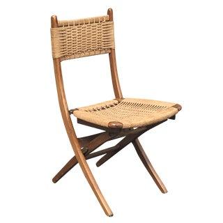 Vintage Hans Wegner Style Folding Chair