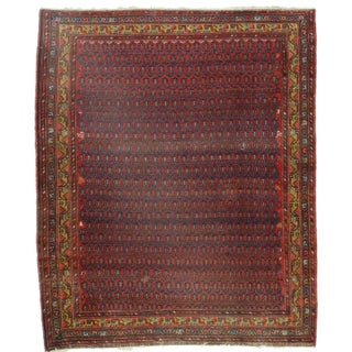 RugsinDallas Persian Malayer Wool Rug - 4′11″ × 5′11″