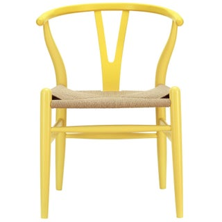 Hans Wegner Wishbone Style Chair - Yellow