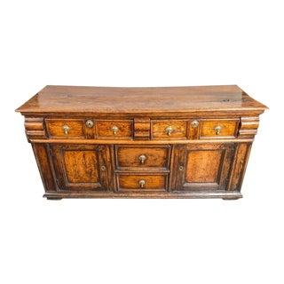 Early English Oak Dresser Base with Patina, circa 1720