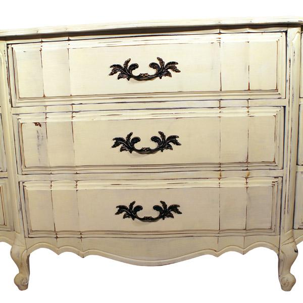 "Image of White French Provincial ""Ladies"" Dresser"
