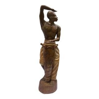 Afro Caribbean Bongo Drum Player Sculpture