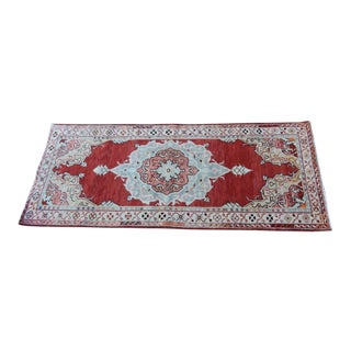 "Vintage Turkish Oushak Hand-Knotted Rug - 3'9"" x 6'6"""