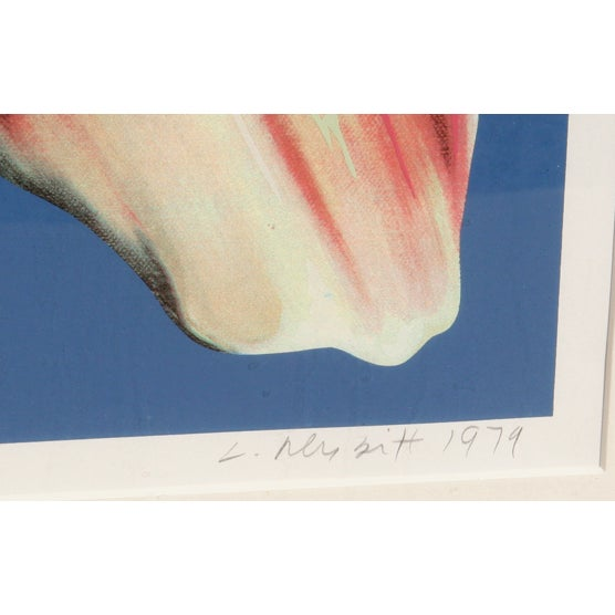 Lowell B. Nesbitt Serigraph - Spotted Iris on Blue - Image 3 of 3