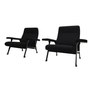 Rare Roberto Menghi 'Hall' Lounge Chairs, Arflex ,1958, 'Compasso D'oro', 1959