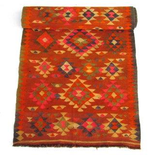 Afghan Tribal Flat Weave Kilim Runner Rug