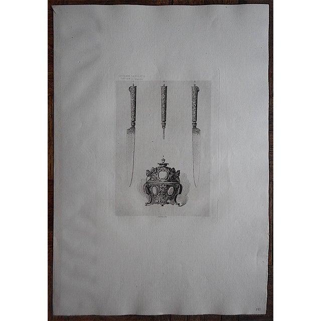 Image of Antique Etching Culinary Utensils Lg. Folio