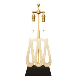 Alabaster Ribbon Lamp
