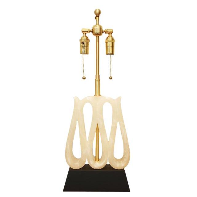 Image of Alabaster Ribbon Lamp